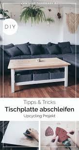 diy upcycling tisch tischplatte abschleifen yeah handmade