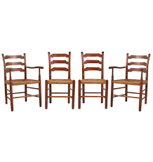Set Of 4 Hickory Ladder Back Dining Chairs W/ Rush Seats 6 Ladder Back Chairs In Great Boughton For 9000 Sale Birch Ladder Back Rush Seated Rocking Chair Antiques Atlas Childs Highchair Ladderback Childs Highchair Machine Age New Englands Largest Selection Of Mid20th French Country Style Seat Side By Hickory Amina Arm Weathered Oak Lot 67 Set Of Eight Lancashire Ladderback Chairs Jonathan Charles Ding Room Dark With Qj494218sctdo Walter E Smithe Fniture Design A 19th Century Walnut High Chair With A Stickley Rush Weave Cape Ann Vintage Green Painted