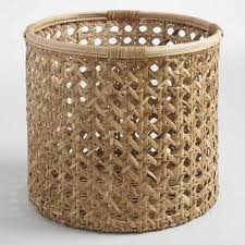 large rattan farrah utility basket by world market
