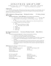 Sample Resume Objectives Massage Therapist Valid Respiratory Objective Examples Of Resumes