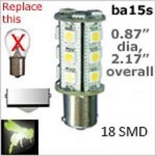 volt led bulbs 18 smd ba15s single bayonet base