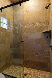did you purchase the shower tray tiled in river rock or did you