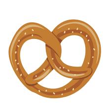 Oktoberfest pretzel cookie illustration Transparent PNG