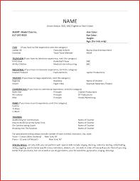 Beautiful Actor Resume Format