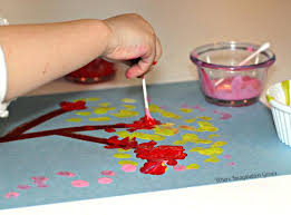 Simple Art Activities For Kids Q Tip Tree Craft 1 Handmade Crafts Near