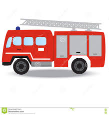 100 Black Fire Truck Fighter Emergency Red Stock Illustration