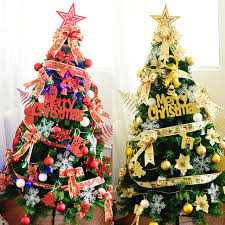 Merry Christmas Mixed Frames Xmas Tree Suppliers Decorations Ball Leaves Snowflake LED Lights Ribbon Flower Bow