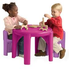 little tikes table and chairs pink