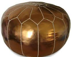 pouf marocain cuir etsy
