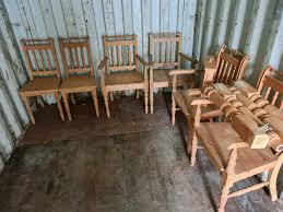 landhaus bauern naturholz es tisch 6 stühle esszimmer antik küche