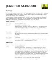 Resume Sample Good Warehouse Associate Example Free
