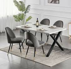 lounger esszimmer sessel stuhl samt grau gestell schwarz gold