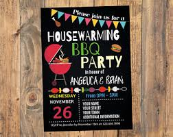 Housewarming BBQ Party Invitation Barbecue House Warming