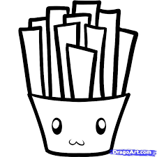 how to draw fries fries step 6