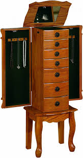 Standing Pretty Jewelry Armoire Box | KSVHS Jewellery Decor Antique Carving Natural Wooden Jewelry Armoire Walmart In Bedroom Best Mirror For Your Organizer Jcpenney Armoire Abolishrmcom Oak Mirror Jewelry Amazoncom Choice Products Black Mirrored Cabinet Cabinet The 45 Wall Mounted Lighted Hammacher Schlemmer White Wood Stained Design Ideas All Home And Top 5 Armoires Youtube