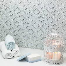 kensington frosted white silver dust tile tilebar