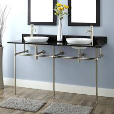 Double Vanity Small Bathroom by Trough Sink Bathroom Vanitymedium Size Of Bath Vanity Sink Top