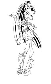 Free Printable Monster High Coloring Pages For Kids Within Pdf