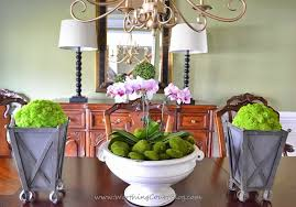 Styrofoam Balls Covered With Reindeer Moss And Placed In Zinc Planters Flank An Orchid Filled Urn