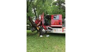 Columbus, KS Fire Truck Crashes After Driver Suffers