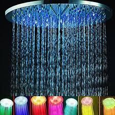 fd0b badezimmer led licht 7colors wechsel 20cm 8 runde regendusche badekopf