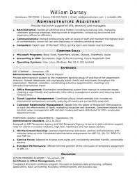 100 Resume Summary Examples Entry Level Administrative Assistant Example Samples 2018 Objective