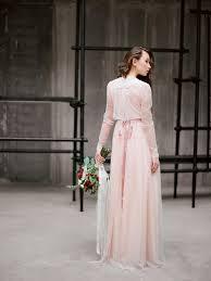 ombre wedding dress with long chiffon skirt ida