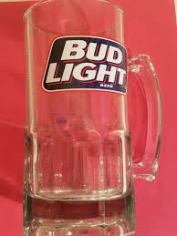 Bud Light Oversized Beer Stein Mug Glass 8