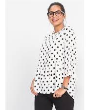 popular black white polka dot shirt blouses buy cheap black white