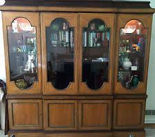 Henredon Breakfront China Cabinet by Mahogany Breakfront Cabinets U0026 Cupboards Ebay