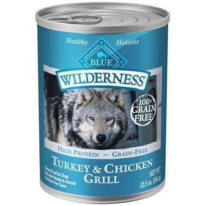 Blue Buffalo Wilderness Grain Free Canned Dog Food - Turkey and Chicken Recipe, 12.5oz