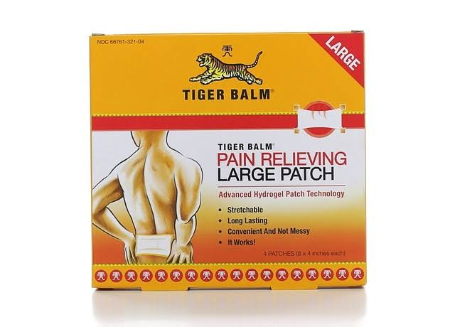 Tiger Balm Pain Relieving Patch - Large, 4 Count