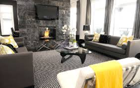 Entrancing Pictures Of Yellow And Grey Living Room Design
