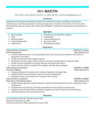 Resume Samples Administration Resumes Administrative Officer