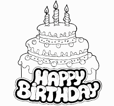Free Printable Coloring Pages Birthday Cake