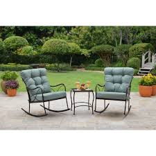 Better Homes & Gardens Seacliff 3 Piece Rocking Chair Bistro Set -  Walmart.com The Gripper 2piece Delightfill Rocking Chair Cushion Set Patio Festival Metal Outdoor With Beige Cushions 2pack Fniture Add Comfort And Style To Your Favorite Nuna Wood W Of 2 By Christopher Knight Home Details About Klear Vu Easy Care Piece Maracay Head Java Wicker Enstver Bistro 2piece Seating With Thickened Blue And Brown Amish Bentwood Rocking Chair Augustinathetfordco Splendid Comfortable Chairs Nursing Wooden Luxury Review Phi Villa 3piece