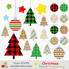 Christmas Trees Ornaments Clipart Christmas Digital Vector Download Clip Art Christmas Tree Ornament Graphics Scrapbooking Clipart