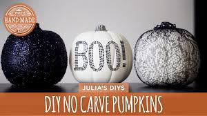 Funny Pumpkin Carvings Youtube by Diy No Carve Lace U0026 Glitter Pumpkins Hgtv Handmade Youtube