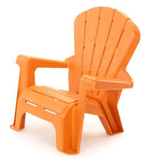 garden chair orange at little tikes