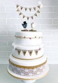 Rustic Hessian And Lace Wedding Cake By Serendipity Company