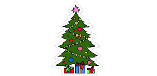 Christmas Tree Cut Out For Kids