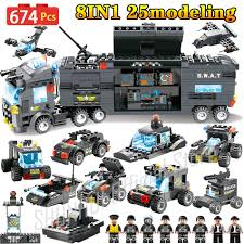 2018 Police Series SWAT City Police Truck Station Compatible LegoING ...