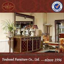 0026 Antique Classic Dining Room Furniture Buffet And Mirror Luxury Wooden Sideboards