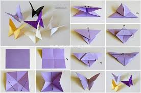 Paper Folding Into Butterflies