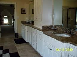 White Cabinets Painted to Look Like Wood
