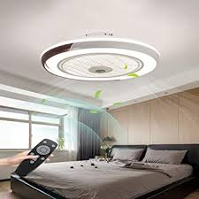 led deckenventilator mit beleuchtung und fernbedienung leise 60w deckenleuchte dimmbare modern deckenl schlafzimmer 50cm unsichtbare ventilator