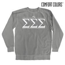 Tri Sigma Gray Comfort Colors Crewneck Sweatshirt Pinterest