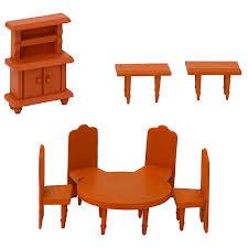 puppenhaus möbel set esszimmer puppenmöbel holz zubehör eyepower