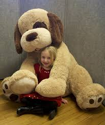 Giant Stuffed Dog and $20 Barnes & Noble Gift Card
