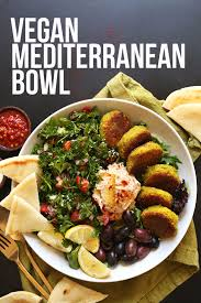 Serving Of Our Vegan Mediterranean Bowl Recipe For A Healthy Plant Based Dinner